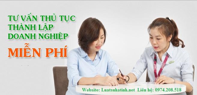 Tư vấn thành lập doanh nghiệp miễn phí tại Hà Tĩnh