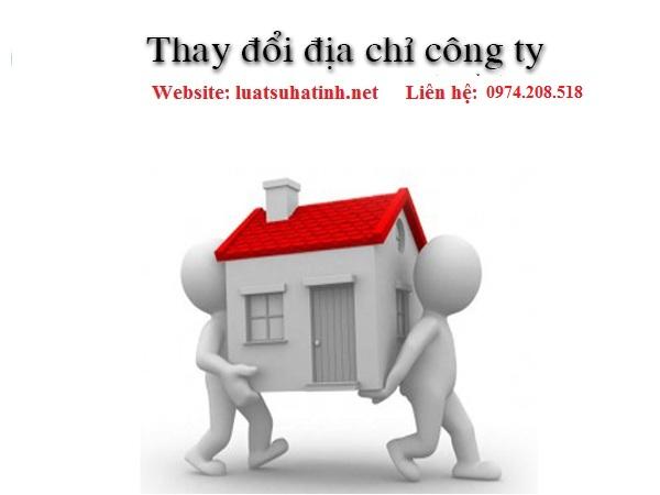 Thay đổi trụ sở chính công ty tại Hà Tĩnh
