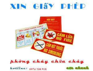 Dịch vụ xin giấy phép phòng cháy chữa cháy tại Hà Tĩnh
