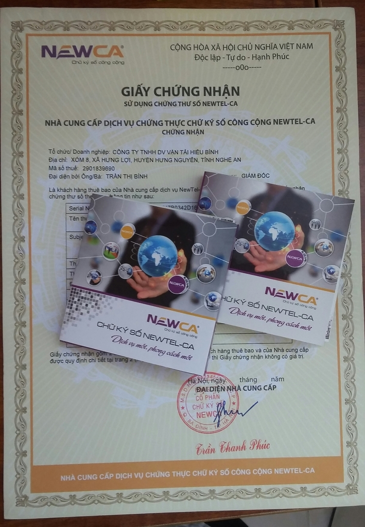 Đại lý chữ ký số rẻ nhất tại Hà Tĩnh