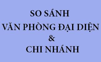 So sánh chi nhánh và Văn phòng đại diện ở Hà Tĩnh