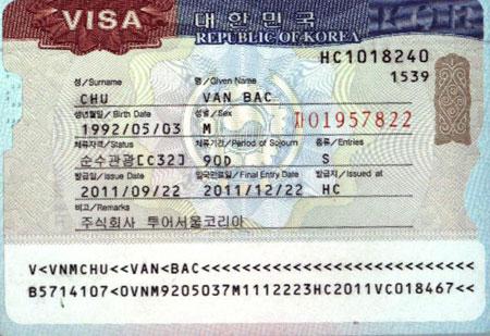 Thủ tục xin cấp visa sang Hàn quốc du học
